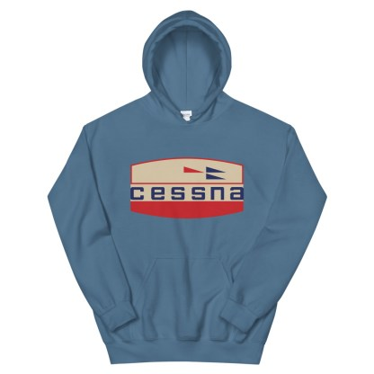 airplaneTees Old Cessna Logo Hoodie - Unisex 10