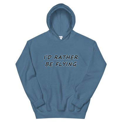 airplaneTees Id rather be flying Hoodie - Unisex 10