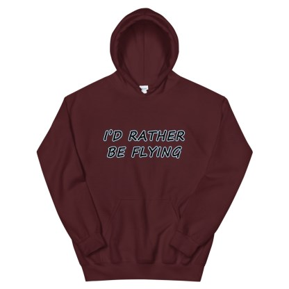 airplaneTees Id rather be flying Hoodie - Unisex 7