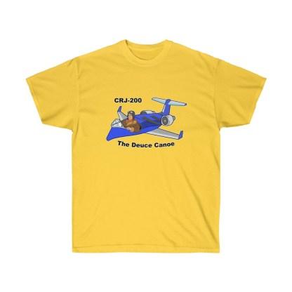 airplaneTees Deuce Canoe Tee - CRJ200 - Unisex Ultra Cotton 6
