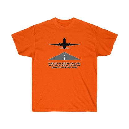 airplaneTees Mile of runway tee - Unisex Ultra Cotton 5
