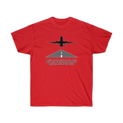 airplaneTees Mile of runway tee - Unisex Ultra Cotton 13
