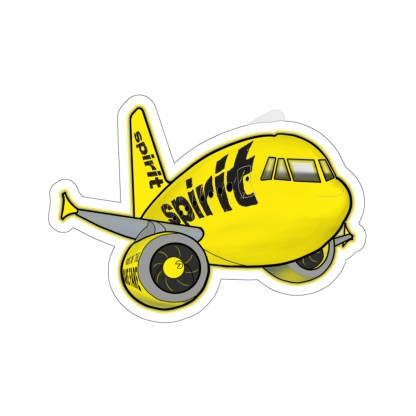 airplaneTees Spirit Airlines Airbus Stickers - Kiss-Cut A321 13