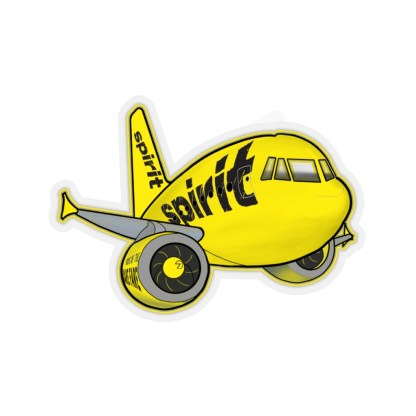 airplaneTees Spirit Airlines Airbus Stickers - Kiss-Cut A321 1