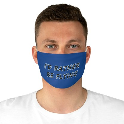 airplaneTees Id rather be flying mask - Face Mask - Fabric 4