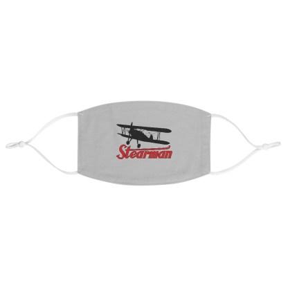 airplaneTees Stearman Face Mask - Logo, Fabric 2