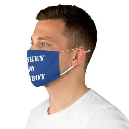 airplaneTees WTF Whiskey Tango Foxtrot Face Mask - Fabric 1