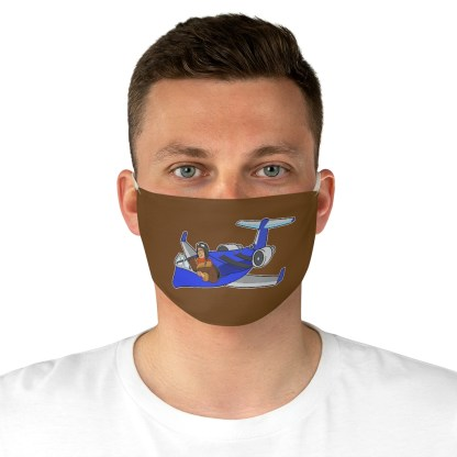 airplaneTees Deuce Canoe Face Mask - Fabric 1