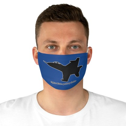 airplaneTees Fighter pilots get it up faster Face Mask - Fabric 4