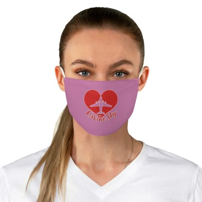 airplaneTees Kiss the Sky Face Mask - Fabric 1