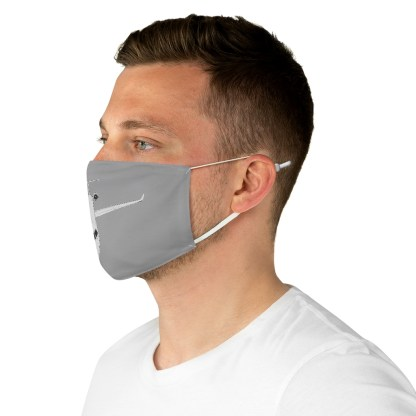airplaneTees CRJ Face Mask - Line drawing, Fabric 5