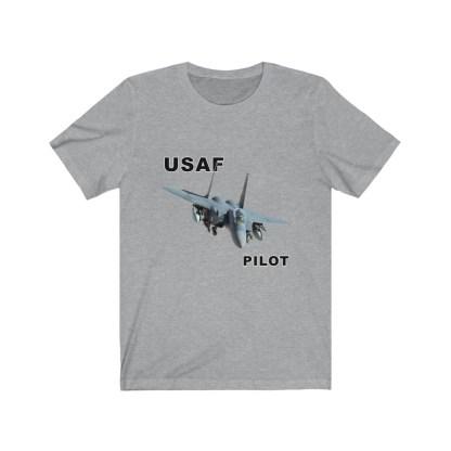 airplaneTees USAF Pilot Tee F15 - Unisex Jersey Short Sleeve Tee 10