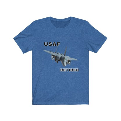 airplaneTees USAF Retired Tee F15 - Unisex Jersey Short Sleeve Tee 12