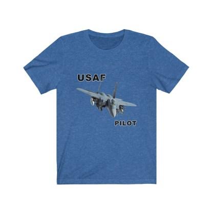 airplaneTees USAF Pilot Tee F15 - Unisex Jersey Short Sleeve Tee 12