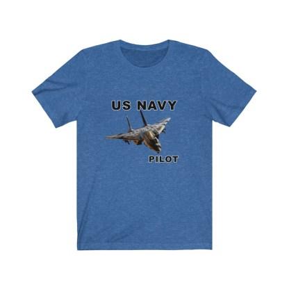 airplaneTees USN F14 Pilot Tee - Unisex Jersey Short Sleeve Tee 11