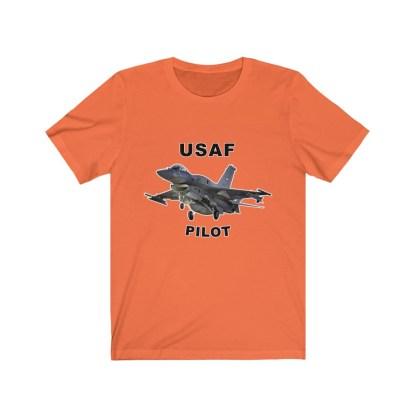 airplaneTees USAF Pilot Tee F16 - Unisex Jersey Short Sleeve Tee 3
