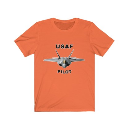airplaneTees USAF Pilot Tee F22 - Unisex Jersey Short Sleeve Tee 3