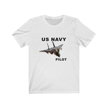 airplaneTees USN F14 Pilot Tee - Unisex Jersey Short Sleeve Tee 2