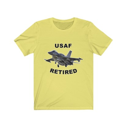 airplaneTees USAF Retired Tee F16 - Unisex Jersey Short Sleeve Tee 6