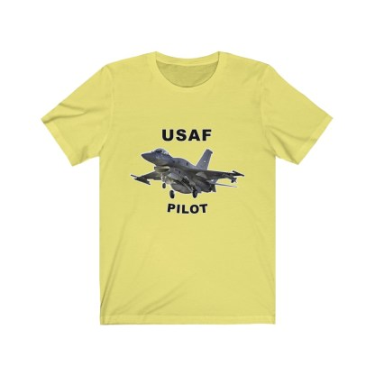 airplaneTees USAF Pilot Tee F16 - Unisex Jersey Short Sleeve Tee 6