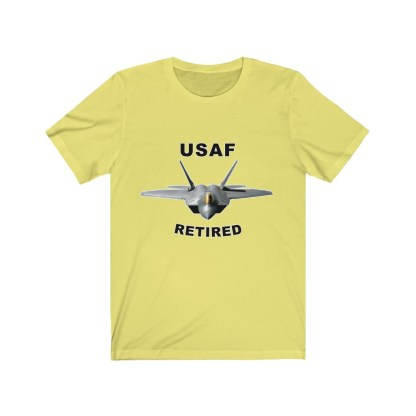 airplaneTees USAF Retired Tee F22 - Unisex Jersey Short Sleeve Tee 4