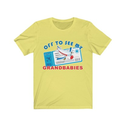 airplaneTees Off to see my Grandbabies tee - Unisex Jersey Short Sleeve Tee 5