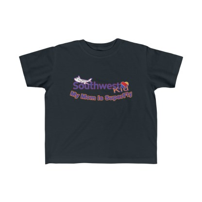 airplaneTees Southwest Mom is Superfly tee - Kid's Fine Jersey 3
