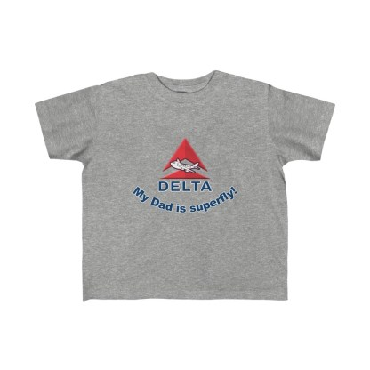 airplaneTees Delta My Dad is Superfly Kid's Tee – Fine Jersey – Delta Dad 3