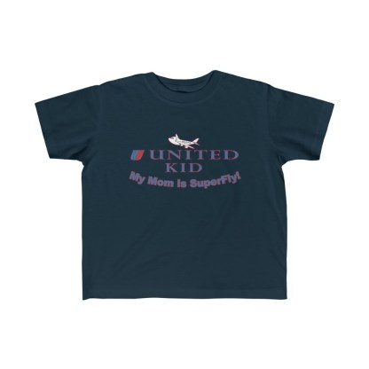 airplaneTees United Mom is Superfly Tee - Kid's Fine Jersey 1