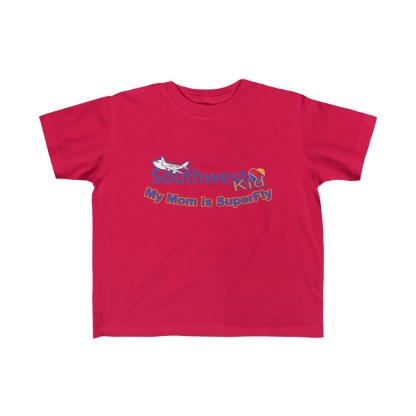 airplaneTees Southwest Mom is Superfly tee - Kid's Fine Jersey 5