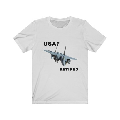 airplaneTees USAF Retired Tee F15 - Unisex Jersey Short Sleeve Tee 3