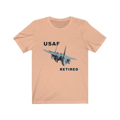airplaneTees USAF Retired Tee F15 - Unisex Jersey Short Sleeve Tee 7