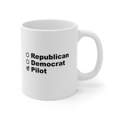 airplaneTees Political Pilot Coffee Mug - Ceramic 11oz 3
