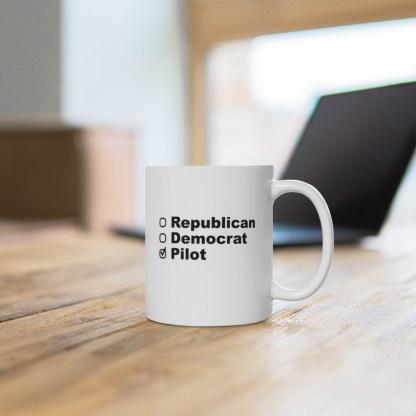 airplaneTees Political Pilot Coffee Mug - Ceramic 11oz 4