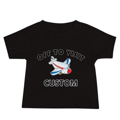 airplaneTees Off to Visit Grandma Tee CUSTOM - Baby Jersey Short Sleeve - Grandma, Nana, PA, Nannie, Mom, Uncle 3