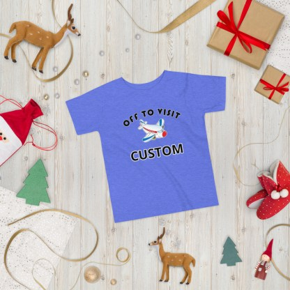airplaneTees CUSTOM Off to visit tee - Off to visit grandma, off to visit Nana, Mom, Dad, Uncle Toddler Short Sleeve Tee 4