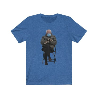 airplaneTees Bernie Sanders In Parka and Mittens Tee - Unisex Jersey Short Sleeve 11