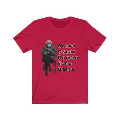 airplaneTees Bernie Sanders In Parka and Mittens Tee - BORED - Unisex Jersey Short Sleeve 14