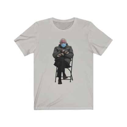 airplaneTees Bernie Sanders In Parka and Mittens Tee - Unisex Jersey Short Sleeve 6