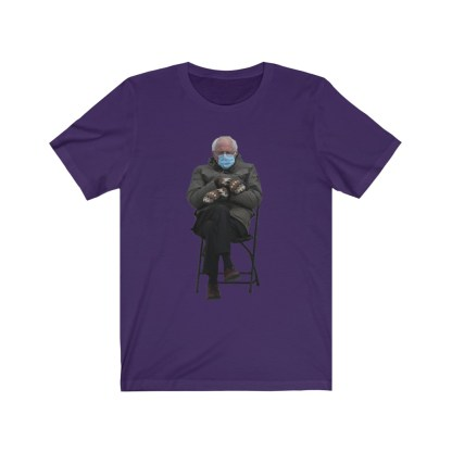 airplaneTees Bernie Sanders In Parka and Mittens Tee - Unisex Jersey Short Sleeve 13