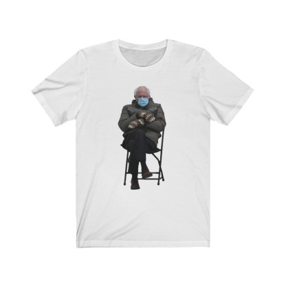 airplaneTees Bernie Sanders In Parka and Mittens Tee - Unisex Jersey Short Sleeve 2