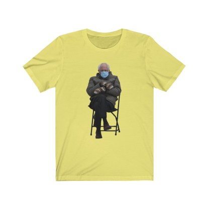 airplaneTees Bernie Sanders In Parka and Mittens Tee - Unisex Jersey Short Sleeve 7