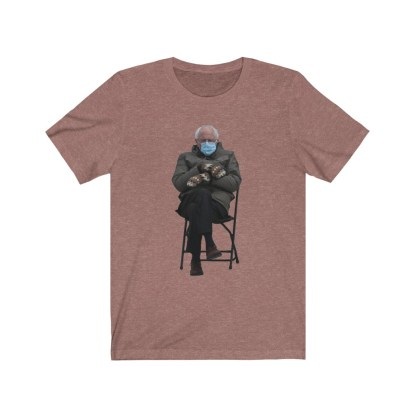 airplaneTees Bernie Sanders In Parka and Mittens Tee - Unisex Jersey Short Sleeve 4