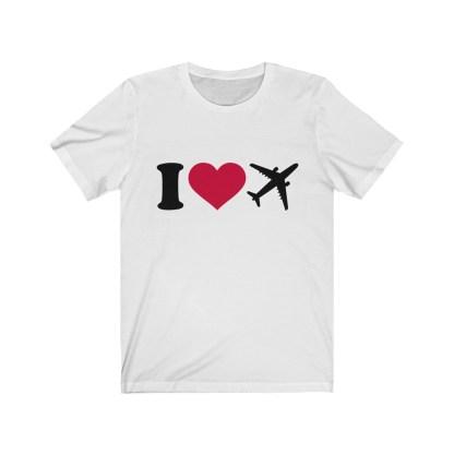 airplaneTees I Love Flying Tee - I Love Airplanes Tee - I Heart Flying Tee - I Heart Airplanes Tee - Unisex Jersey Short Sleeve Tee 2