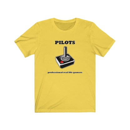 airplaneTees Pilots Professional Real Life Gamers Tee - Unisex Jersey Short Sleeve 5