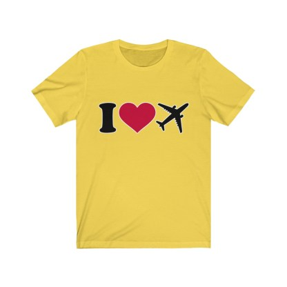 airplaneTees I Love Flying Tee - I Love Airplanes Tee - I Heart Flying Tee - I Heart Airplanes Tee - Unisex Jersey Short Sleeve Tee 4