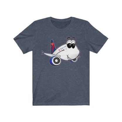 airplaneTees Delta Smiles Airbus Tee – Unisex Jersey Short Sleeve 12
