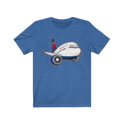 airplaneTees Delta Airbus Tee – Unisex Jersey Short Sleeve 9