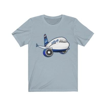 airplaneTees jetBlue Airbus Tee - Unisex Jersey Short Sleeve Tee 1