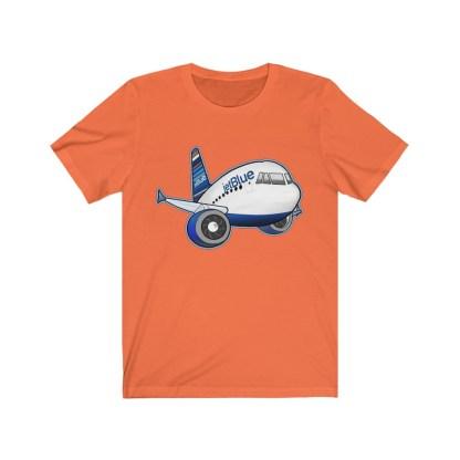 airplaneTees jetBlue Airbus Tee - Unisex Jersey Short Sleeve Tee 4